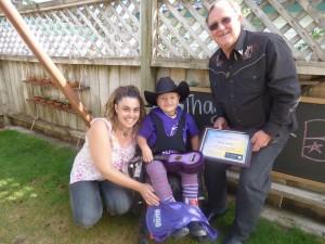 Elijah with Mum Michelle & Paul Sinclair