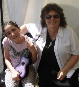 Rebecca with Joy Adams